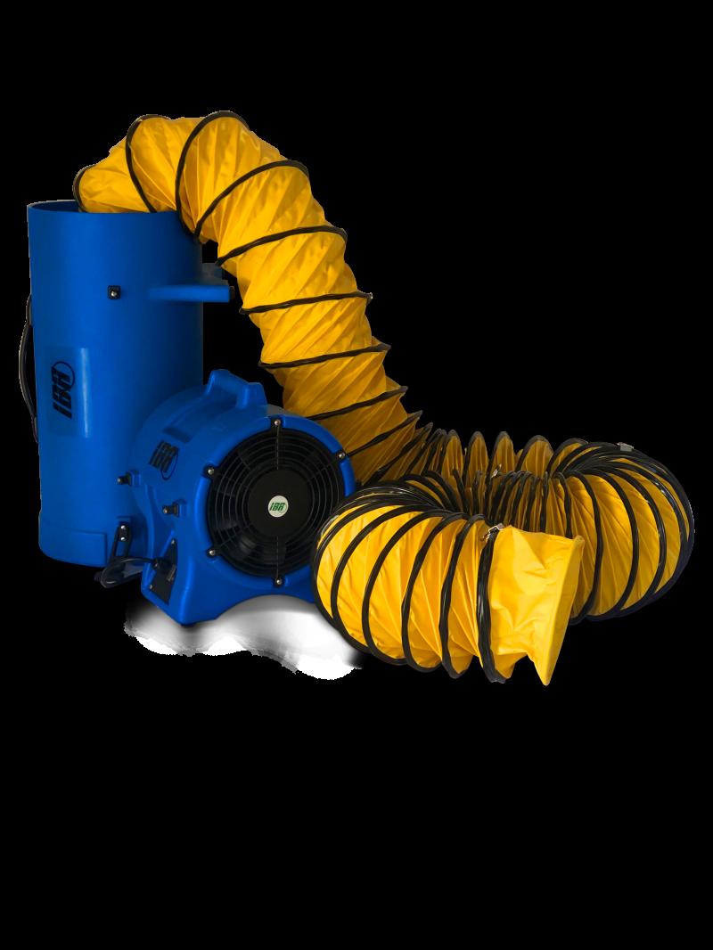 Equipamentos de ventilação portátil oferecem segurança em trabalhos em altura ou em espaços confinados